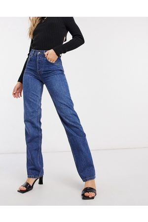 ASOS Effortless - Jean court évasé stretch taille haute