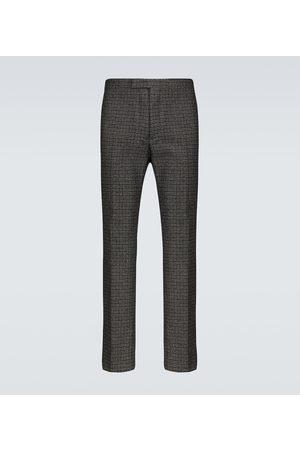 RAF SIMONS Pantalon slim en laine mélangée