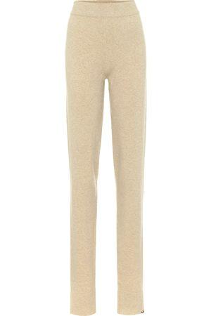 EXTREME CASHMERE Pantalon Legs en cachemire mélangé