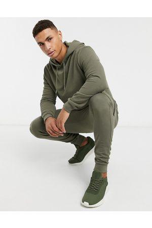 ASOS Survêtement avec hoodie et jogger cargo ajusté - Kaki