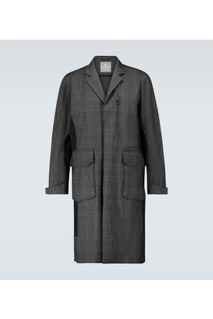 LARDINI Manteau à carreaux en laine