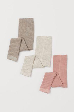 H&M Lot de 3 leggings côtelés