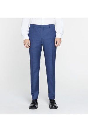 Calvin Klein Pantalon de costume slim en laine micro motif fantaisie