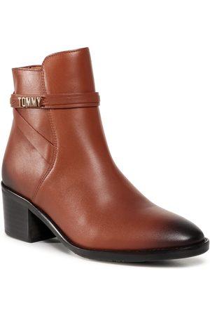 Tommy Hilfiger Bottines - Block Branding Leather Mid Boot FW0FW05196 Pumpkin Paradise GOW
