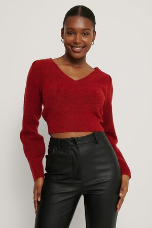 NA-KD Pull En Tricot À Manches Bouffantes - Red