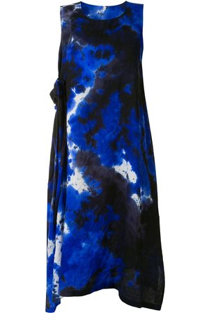 Y'S Femme Robes - Robe ample à motif tie-dye