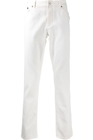 Brunello Cucinelli White straight-leg jeans