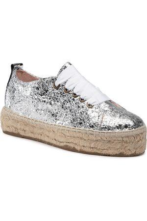 MANEBI Femme Espadrilles - Espadrilles - Sneakers D G 0.3 E0 Silver Crackle