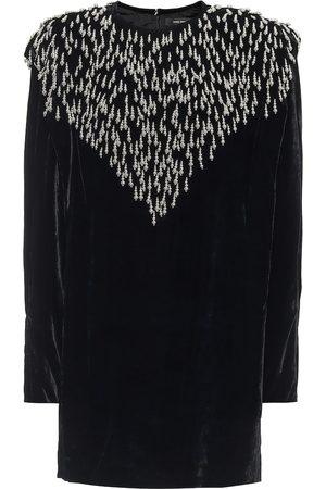 Isabel Marant Femme Robes d'été - Robe en velours de soie mélangée à ornements