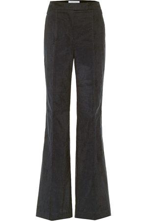 GABRIELA HEARST Pantalon évasé Leda à taille haute en coton