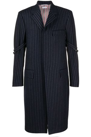 Thom Browne Manteau Chesterfield à fines rayures