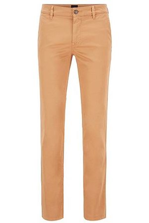 HUGO BOSS Chino casual Slim Fit en coton stretch brossé