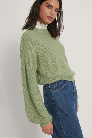 NA-KD Pull En Maille Court - Green