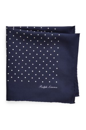 Ralph Lauren Pochette foulard à pois en soie