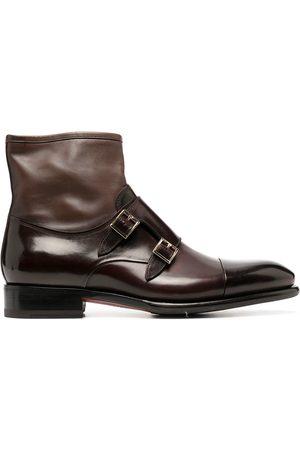 santoni Double monk strap ankle boots