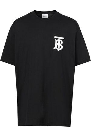 Burberry T-shirt oversize à logo poitrine