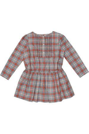 BONPOINT Robe Phoebe en coton à carreaux