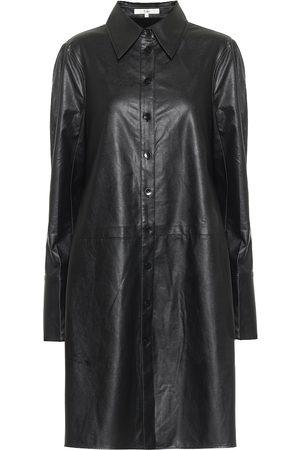 tibi Femme Robes business - Robe chemise Tissue en cuir synthétique