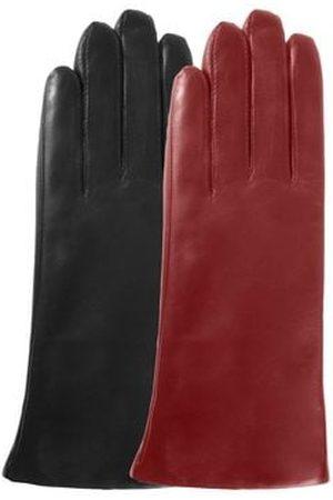 Isotoner Gants femme en cuir compatibles écrans tactiles