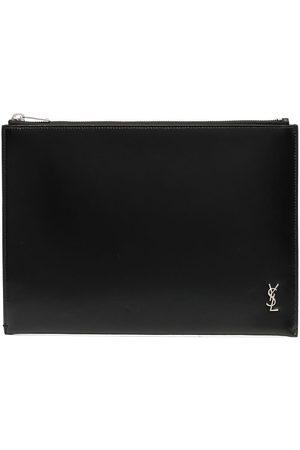 Saint Laurent étui pour tablette à plaque logo 21 cm x 29 cm