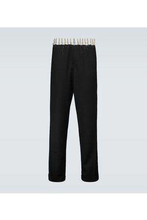 WALES BONNER Pantalon en laine vierge