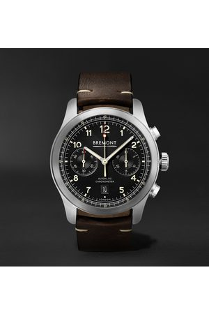 Bremont Homme Montres - ALT1-C Griffon Automatic Chronograph 43mm Stainless Steel and Leather Watch