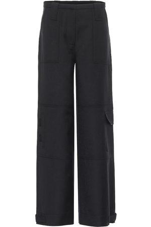 Ganni Pantalon droit en laine mélangée