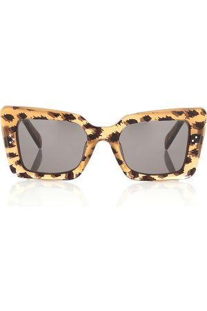 Céline Lunettes de soleil rectangulaires à motif léopard