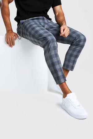 Boohoo Pantalon large chic à détail chaîne et gros carreaux Homme