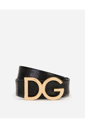 Dolce & Gabbana Collection - CEINTURE HANCHES EN CROCO NAPPA À LOGO DG male 85