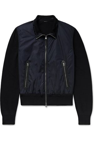 Tom Ford Leather-Trimmed Wool and Nylon Jacket