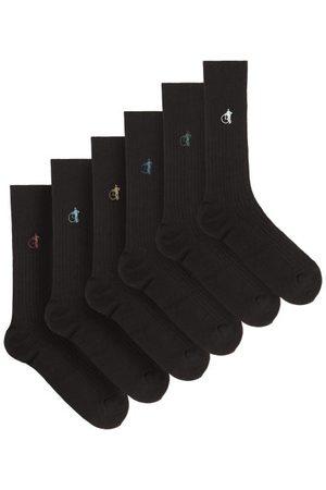 London Sock Company Homme Chaussettes & Bas - Ensemble de six paires de chaussettes en coton