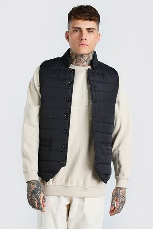 Boohoo Smart Button Down Padded Gilet Homme