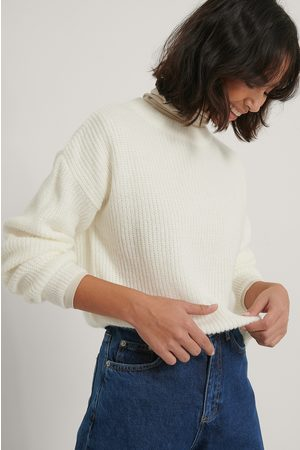NA-KD Pull En Maille Ample - White