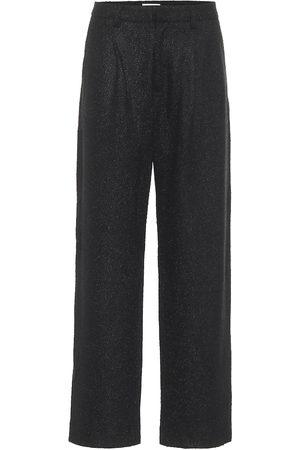 Deveaux New York Pantalon Nicola en tweed de laine mélangée