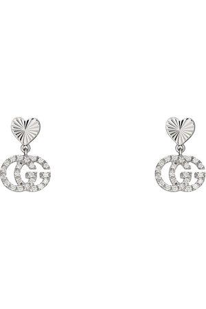 Gucci Boucles d'oreilles GG Running 18 carats avec diamants