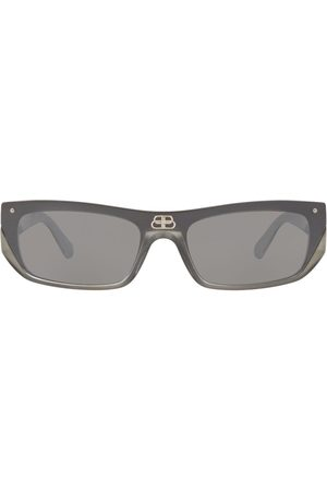 Balenciaga Shield rectangle-frame sunglasses