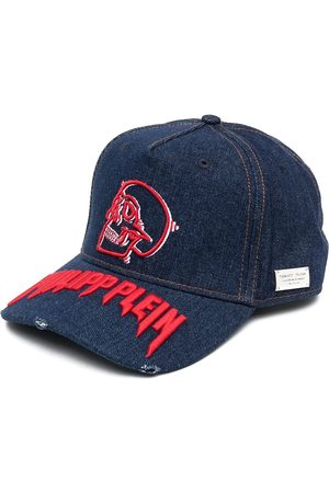 Philipp Plein Logo-embroidered denim baseball cap