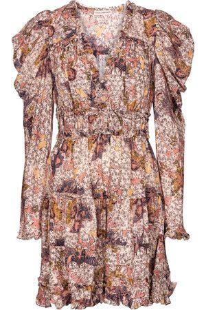ULLA JOHNSON Robe Julie en coton mélangé à fleurs