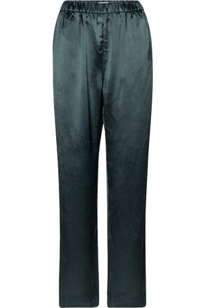 CO Pantalon à taille haute en satin