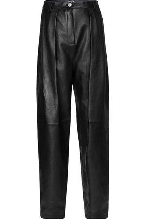MAGDA BUTRYM Pantalon à taille haute en cuir