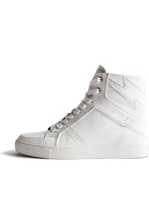 Zadig & Voltaire Sneakers Zv1747 High Flash Blanc - Taille 36 - Femme