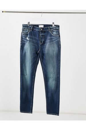 ASOS Homme Skinny - Jean skinny délavage japonais avec traces d'abrasion