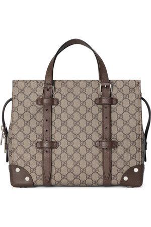 Gucci Cabas GG avec détails en cuir