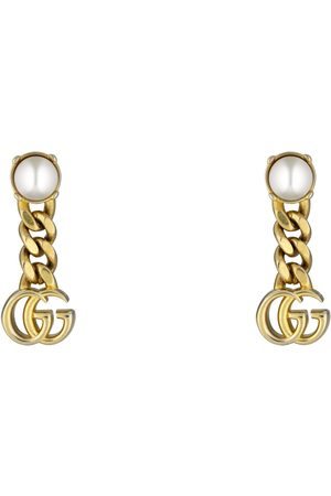 Gucci Boucles d'oreilles Double G avec perles