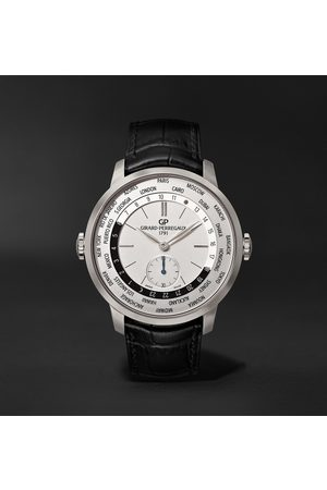 Girard Perregaux 1966 WW.TC Automatic 40mm Stainless Steel and Alligator Watch, Ref. No. 49557-11-132-BB6C
