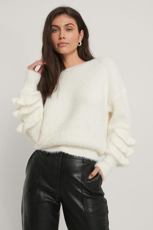 NA-KD Pull Maille - White