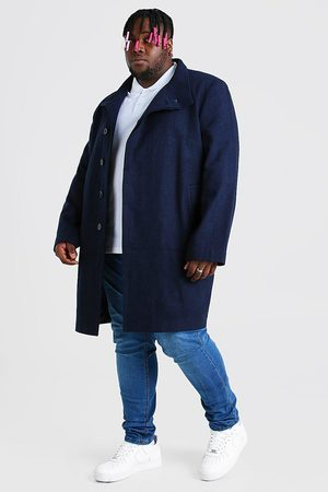 Boohoo Pardessus look laine à col cheminée Big And Tall Homme