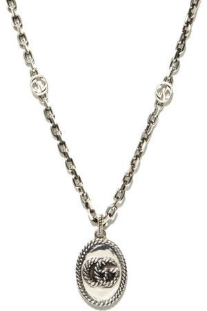 Gucci Homme Colliers - Collier en sterling GG Marmont