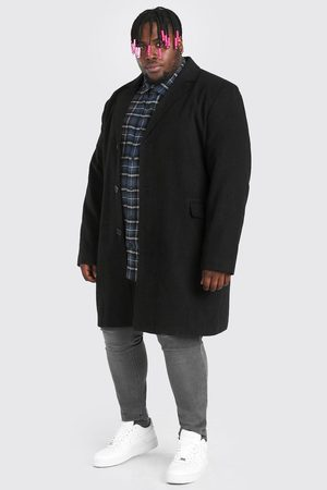 Boohoo Pardessus à boutonnage simple Big And Tall Homme